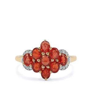 Songea Ruby & Diamond 9K Gold Ring ATGW 2.16cts