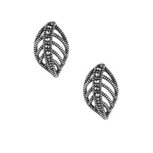 Natural Marcasite Jewels of  Valais Earrings in Sterling Silver 0.15ct
