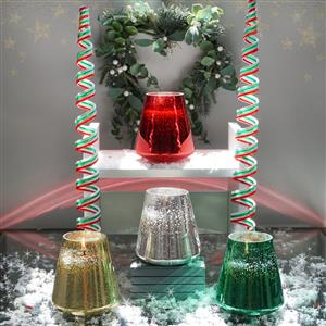 Christmas Metallic Candles with Gems