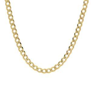 """18"""" 9K Gold Classico Diamond Cut Curb Chain 7.48g"""