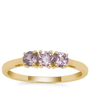 Mahenge Purple Spinel Ring in 9K Gold 0.55ct