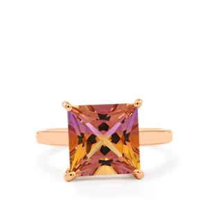 Anahi Ametrine Ring in Rose Gold Plated Sterling Silver 4.31cts