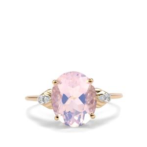 Rio Grande Lavender Quartz & Diamond 10K Gold Ring ATGW 3.29cts