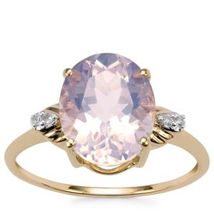 Rio Grande Lavender Quartz Ring with Diamond in 9K Gold 3.29cts