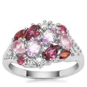 1.82ct Sunset Sterling Silver Shades Ring