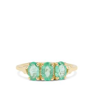 Siberian Emerald Ring in 9K Gold 1.40cts