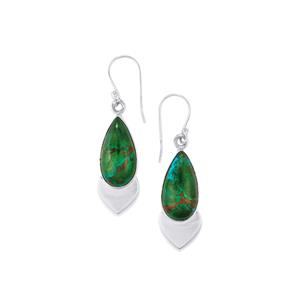 18ct Chrysocolla Sterling Silver Aryonna Earrings