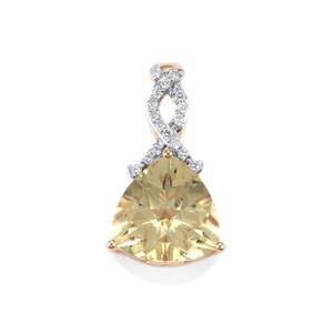 Serenite Pendant with Diamond in 18K Rose Gold 3.76cts