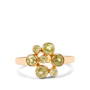 Ambilobe Sphene Ring in Gold Plated Sterling Silver 1.61cts