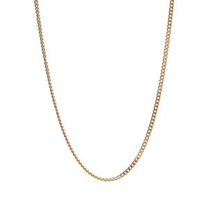 """22"""" Gold Plated Sterling Silver Classico Curb Slider Chain 2.40g"""