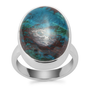 Chrysocolla Ring in Sterling Silver 15.10cts