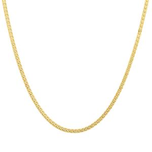 "22"" Midas Altro Diamond Cut Franco Slider Chain 3.36g"