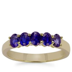 Ceylon Blue Sapphire Ring in 9K Gold 1.14cts