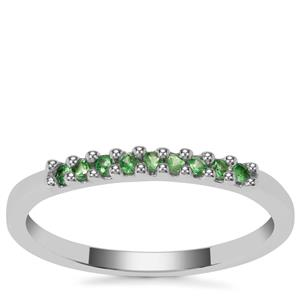 Tsavorite Garnet Ring in Sterling Silver 0.15cts