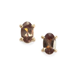 Tsivory Colour Change Garnet Earrings in 10K Gold 0.60ct