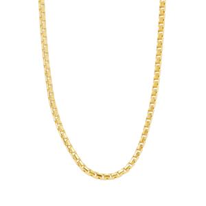 "20"" Midas Tempo Diamond Cut Slider Round Box Chain 2.19g"