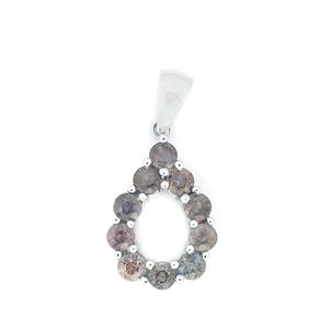 Madagascan Natural Sapphire Pendant in Sterling Silver 1.62cts