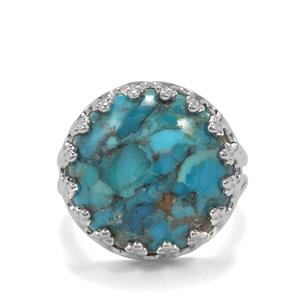 11.72ct Bonita Blue Turquoise Sterling Silver Ring