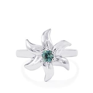 Ratanakiri Blue Zircon Ring in Sterling Silver 0.41ct