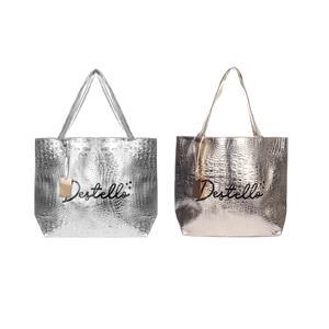 Destello Luxury Metallic Totes - 01 Gold / 02 Silver