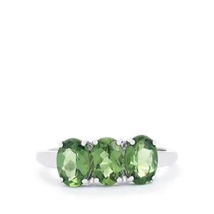 2.38ct Mandrare Green Apatite Sterling Silver Ring