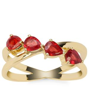 Songea Ruby Ring in 9K Gold 1.07cts