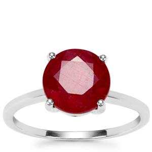 Malagasy Ruby Ring in 9K White Gold 4.06cts (F)