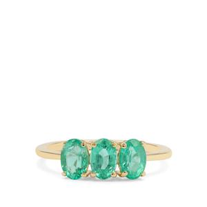 Siberian Emerald Ring in 9K Gold 1.42cts