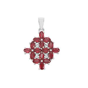 Malagasy Ruby Pendant in Sterling Silver 5.79cts (F)
