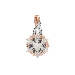 Wobito Snowflake Cut Itinga Petalite Pendant with Diamond in 9K Rose Gold 3.73cts
