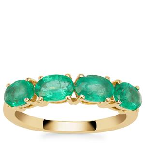 Ethiopian Emerald Ring in 9K Gold 1.34cts
