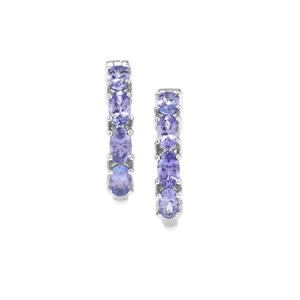 1.96ct Tanzanite Sterling Silver Earrings