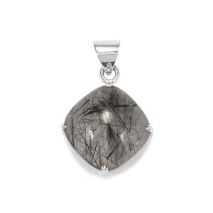 São Paulo Tourmalinated Quartz Pendant in Sterling Silver 25cts