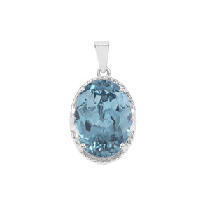 Versailles Topaz Pendant in Sterling Silver 16.02cts