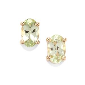 Merelani Mint Garnet Earrings in 10k Gold 0.71ct