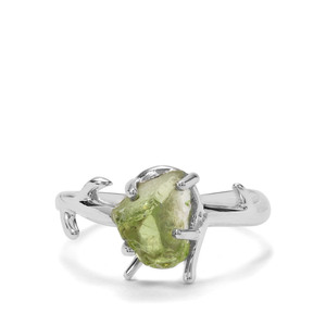 2.30ct Suppatt Peridot Sterling Silver Ring