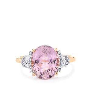 Mawi Kunzite Ring with Diamond in 14K Rose Gold 4.64cts
