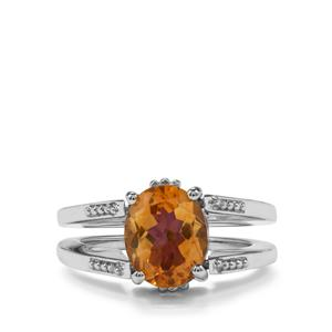 Zambian Amethyst & Rio Golden Citrine Sterling Silver Ring ATGW 5.40cts