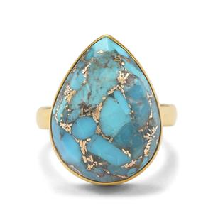 14.51ct Copper Turquoise Midas Ring