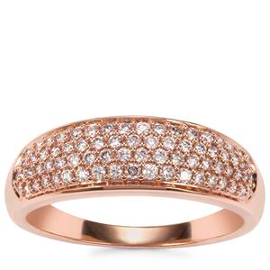 Natural Pink Diamond Ring in 18K Rose Gold 0.37ct
