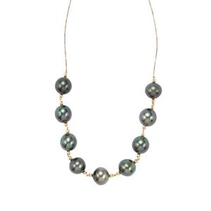 Tahitian Cultured Pearl Necklace in 10K Gold (13mm x 11.50mm)