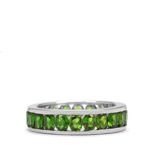 Chrome Diopside Ring in Platinum Plated Sterling Silver 3.55cts