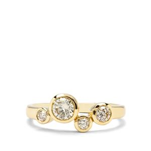 3/4ct Yellow Diamond 18K Gold Tomas Rae Ring