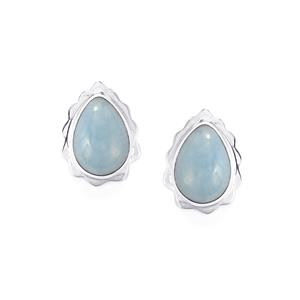 Angelite Earrings in Sterling Silver 10.42cts