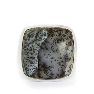26.22ct Siberian Dendrite Quartz Sterling Silver Aryonna Ring