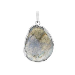 13.35ct Labradorite Sterling Silver Pendant