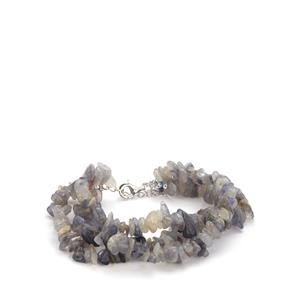 Iolite Bead Bracelet in Sterling Silver 174.10cts