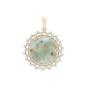 Aquaprase™ Pendant with White Zircon in 9K Gold 10.86cts