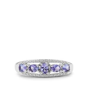 0.84ct AA Tanzanite Sterling Silver Nora Saul Ring