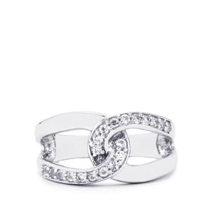 0.38ct White Topaz Sterling Silver Ring
